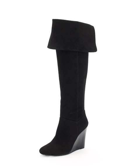 Irene Suede Wedge Boot