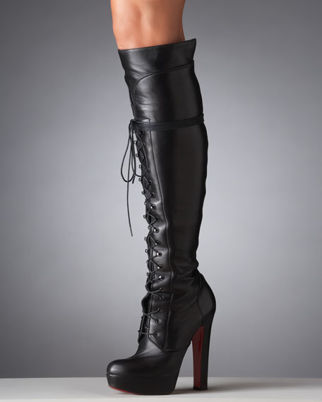 Nardja Lace-Up Platform Over-the-Knee Boot