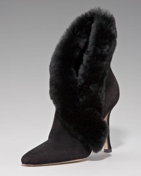 Fur-Stole Bootie