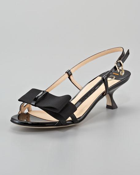 Bow-Detail Slingback Sandal