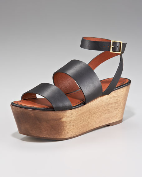 Ankle-Wrap Flatform Sandal