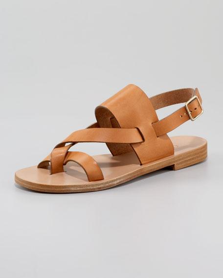 Buckled Halter-Back Flat Sandal