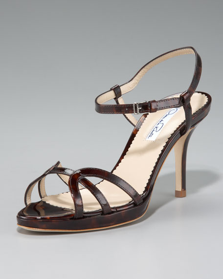 Ankle-Wrap Strappy Sandal