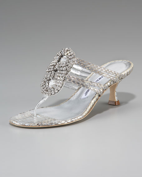 Rittan Jeweled Thong Sandal