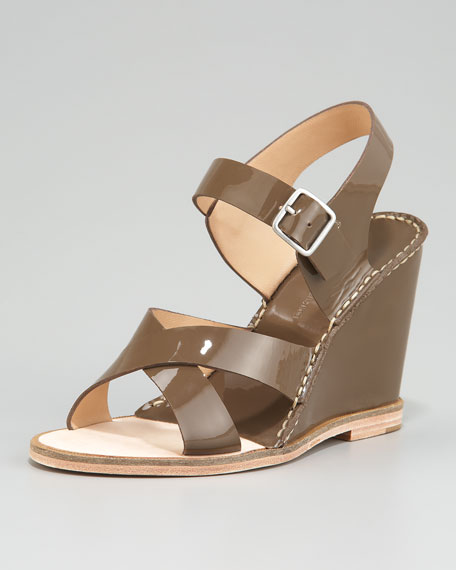 Dagga Patent Wedge Sandals