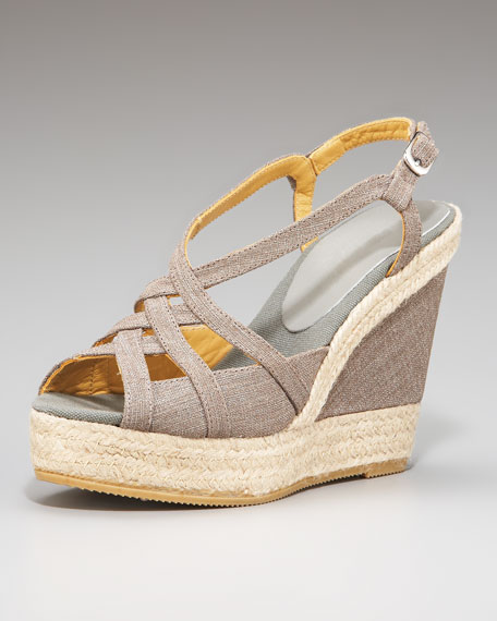 Cutout Wedge Espadrille