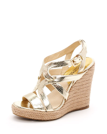 Palm Beach Espadrille, Gold