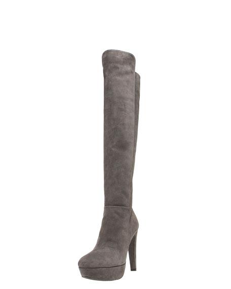 Over-the-Knee Platform Boot