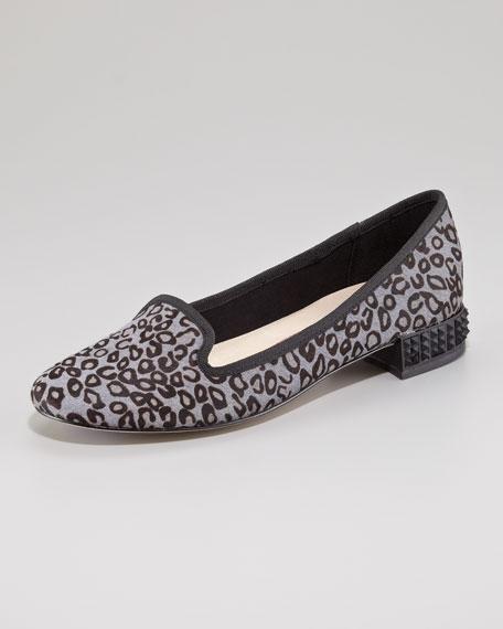 Jane Bejeweled Heel Loafer