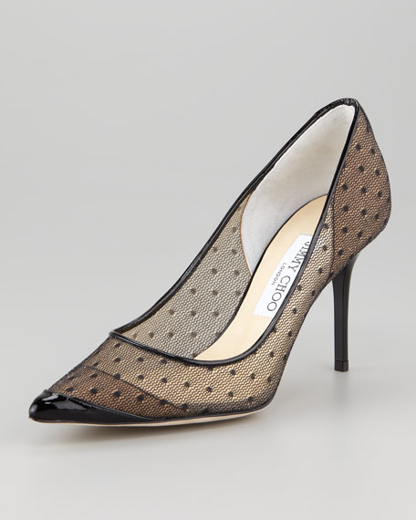 Begonia Dotted Tulle Pump