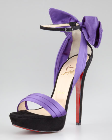 Vampanodo Satin Bow Red Sole Sandal