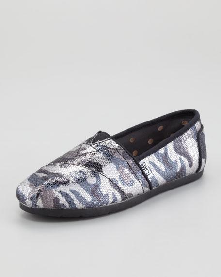 Sequined Camo Slip-On