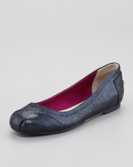 Marlton Metallic Suede Ballerina Flat