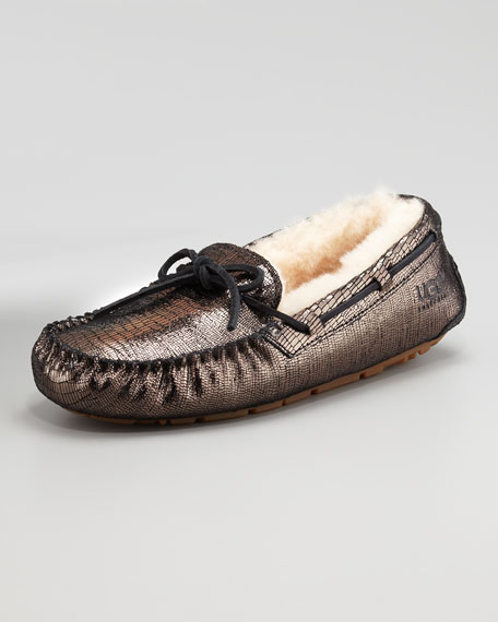Dakota Metallic Tie Slipper