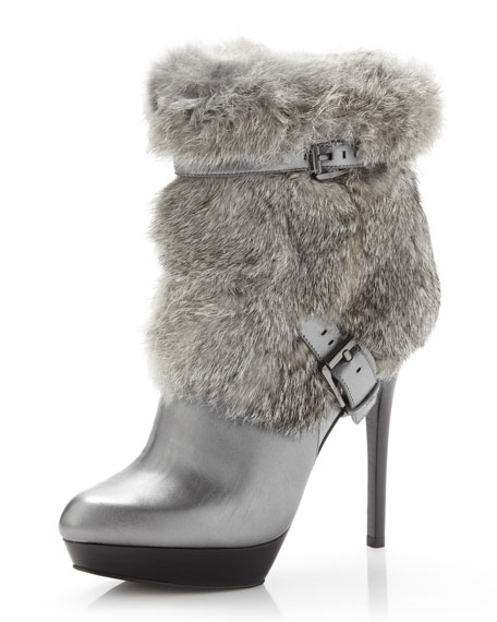 Enna Fur/Leather Bootie