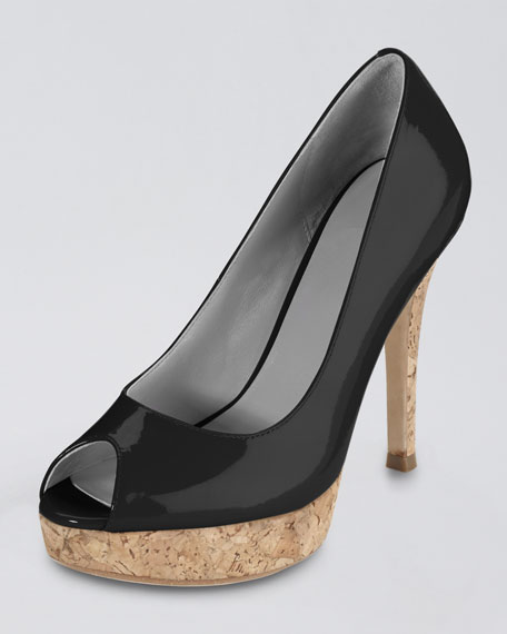 Air Mariela Peep-Toe Patent Pump