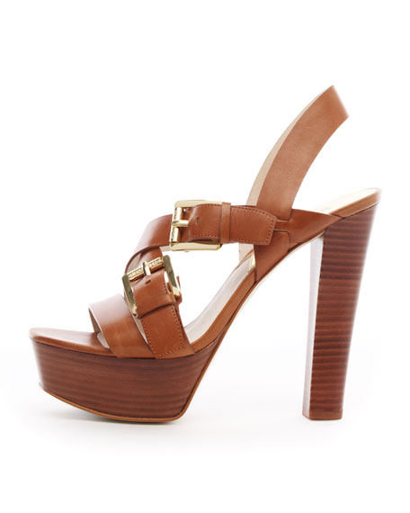 Josephine Leather Platform Sandal