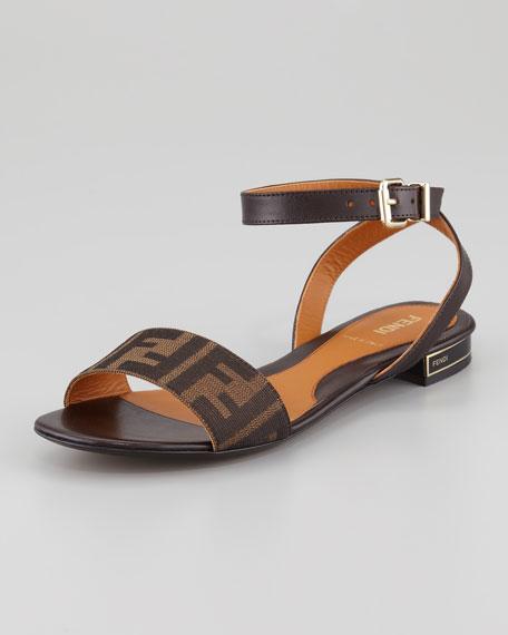 Zucca Ankle-Wrap Flat Sandal