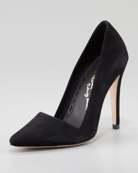 Dina Suede Pointed-Toe Pump
