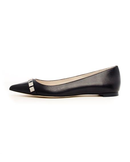 Chantalle Stud-Toe Flat