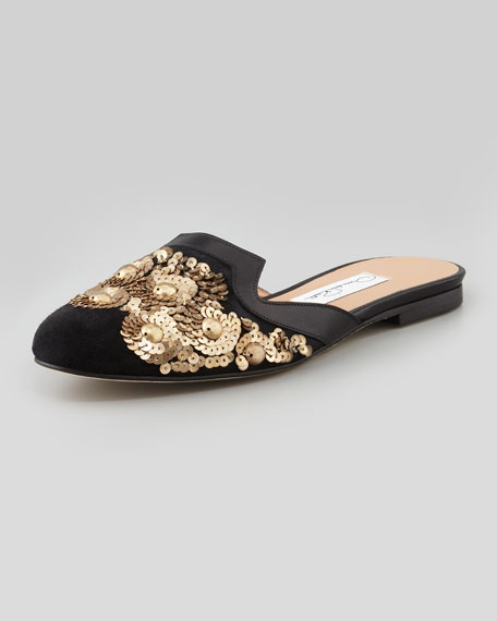 Spanish Sequin Embellished Mule by Oscar De La Renta