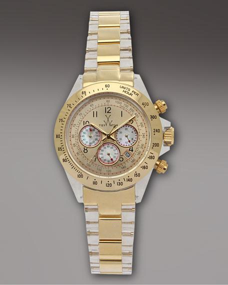 Chronograph Heavy Metal Watch, Golden