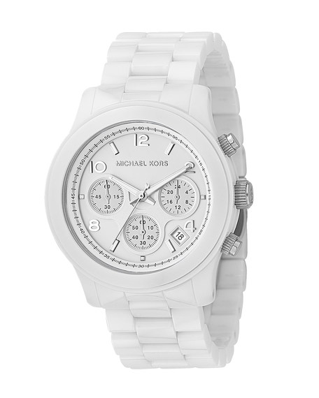 White Oversized Ceramic Watch