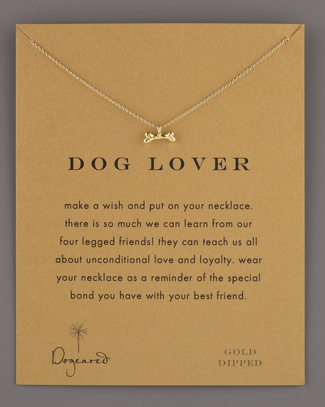 Dog Lover Bone Necklace