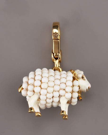Beaded Sheep Charm
