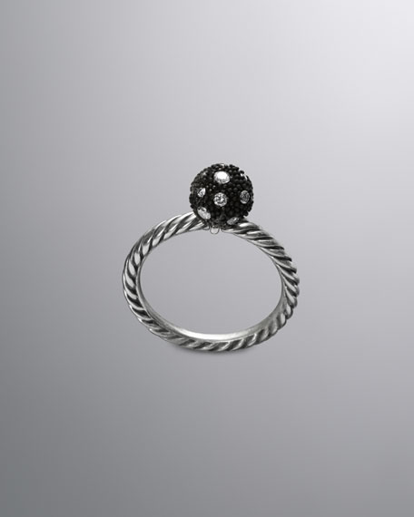 DY Elements Stack Ring, Diamond, 8mm