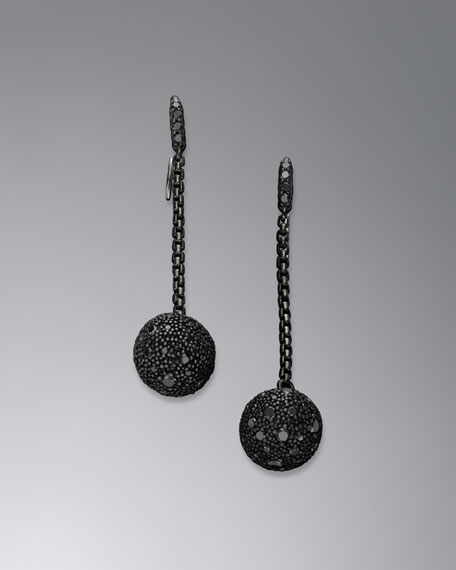 Midnight Mélange Drop Earrings with Black Diamonds