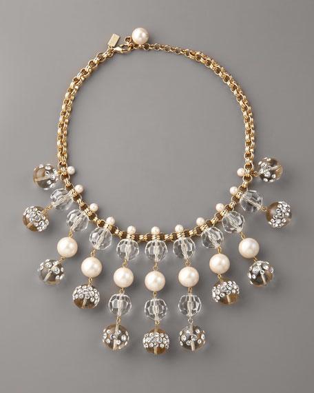 rhinestone ball-drop necklace