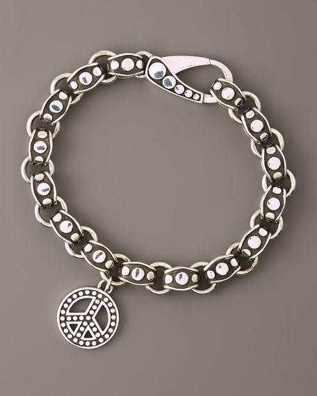 Peace-Charm Dot Bracelet