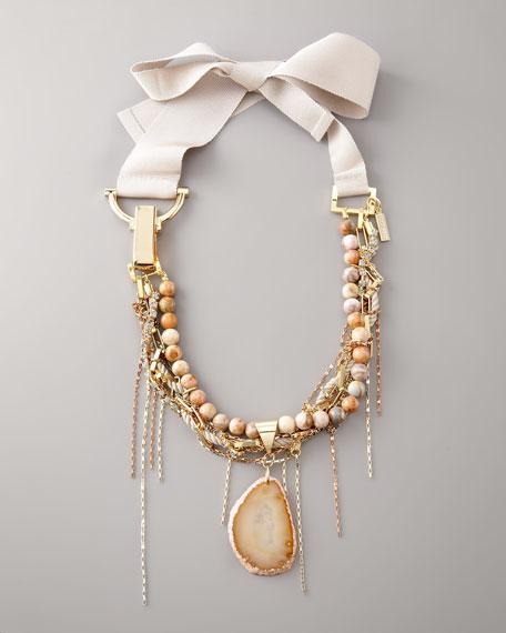 Blush Agate Multi-Chain Necklace