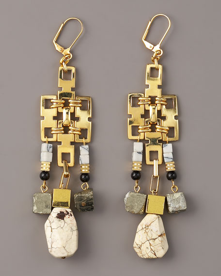 Geometric Chandelier Earrings