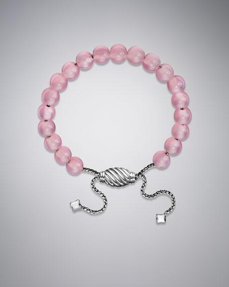Spiritual Bead Bracelet, Pink Chalcedony, 8mm