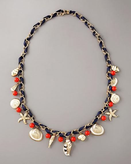 """Nautical Charm Necklace, 30""""L"""