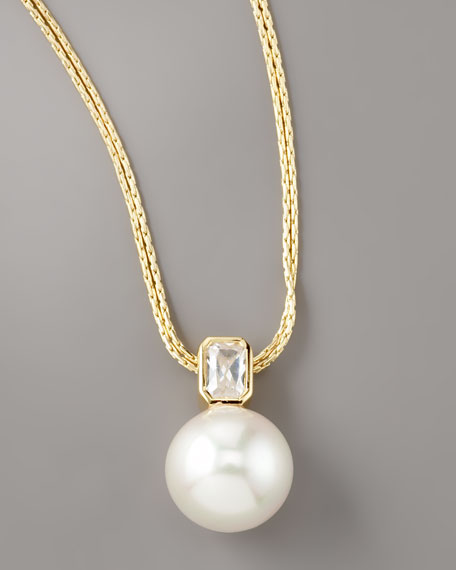 Pearl & Cubic Zirconia Necklace