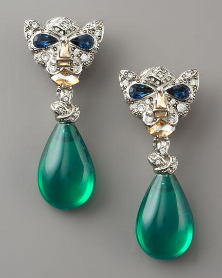 Panther Drop Earrings
