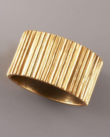 Golden Ridged Cuff