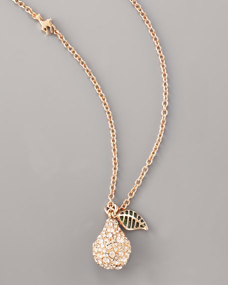 "Pave Pear Necklace, 31""L"
