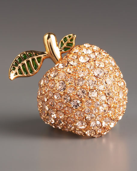 Pave-Crystal Pear Ring