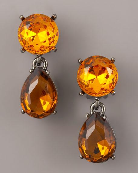 Topaz-Drop Earrings