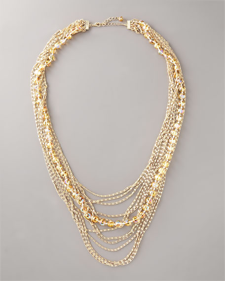 Multi-Strand Crystal Necklace