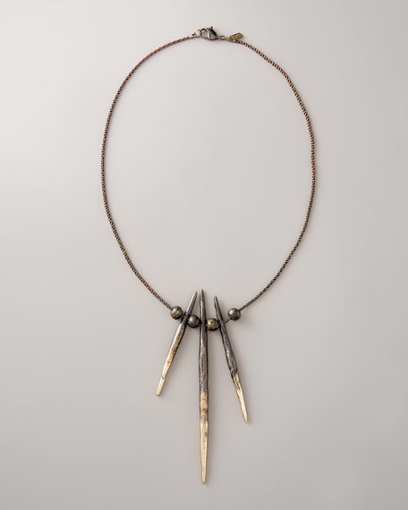 Three-Porcupine Needle Necklace