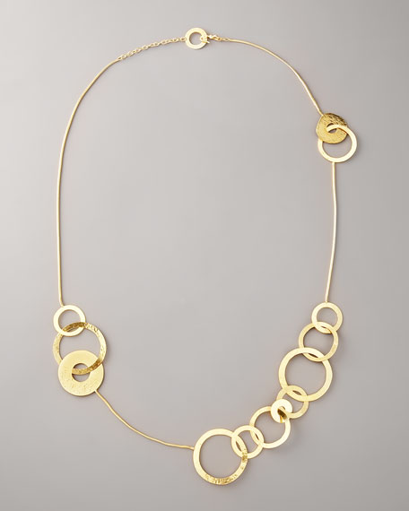 Long Open Circle Necklace