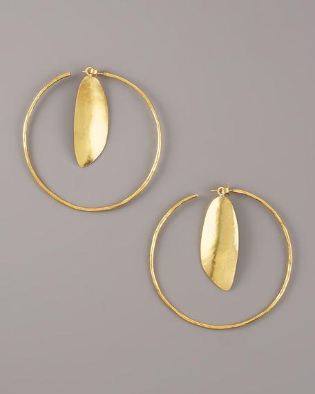 Gold Chip Hoop Earrings
