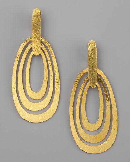 Triple-Ellipse Clip Earrings