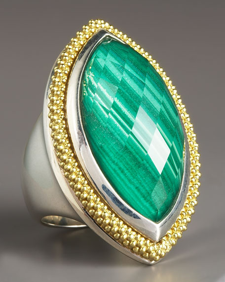 Malachite Ring, Large