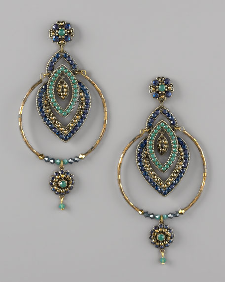 Multicolor Pave Earrings